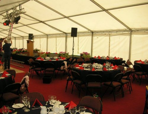 Setting up for Ballymena RFC fundraiser